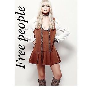 FREE PEOPLE BROILED WOOL OVERSIZED SWING DRESS